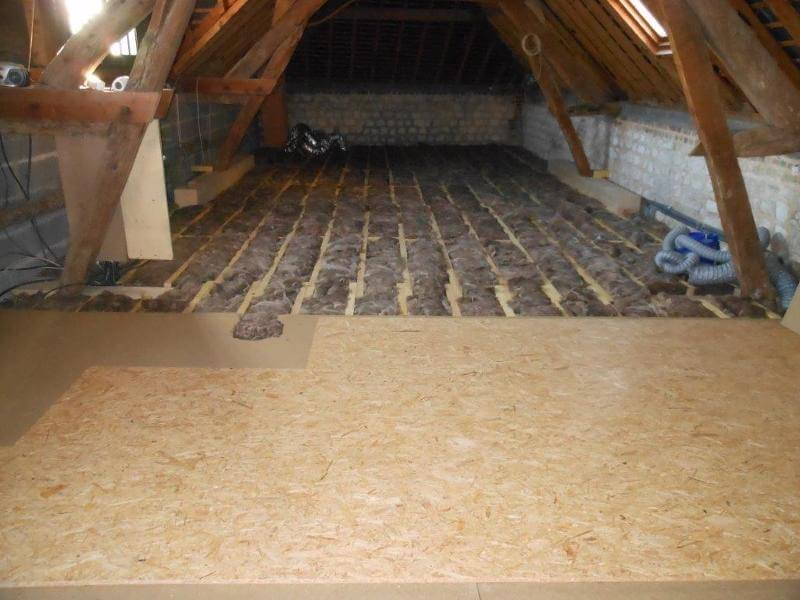 Isolation intérieur laine de bois - Saint Pierre les Elbeuf