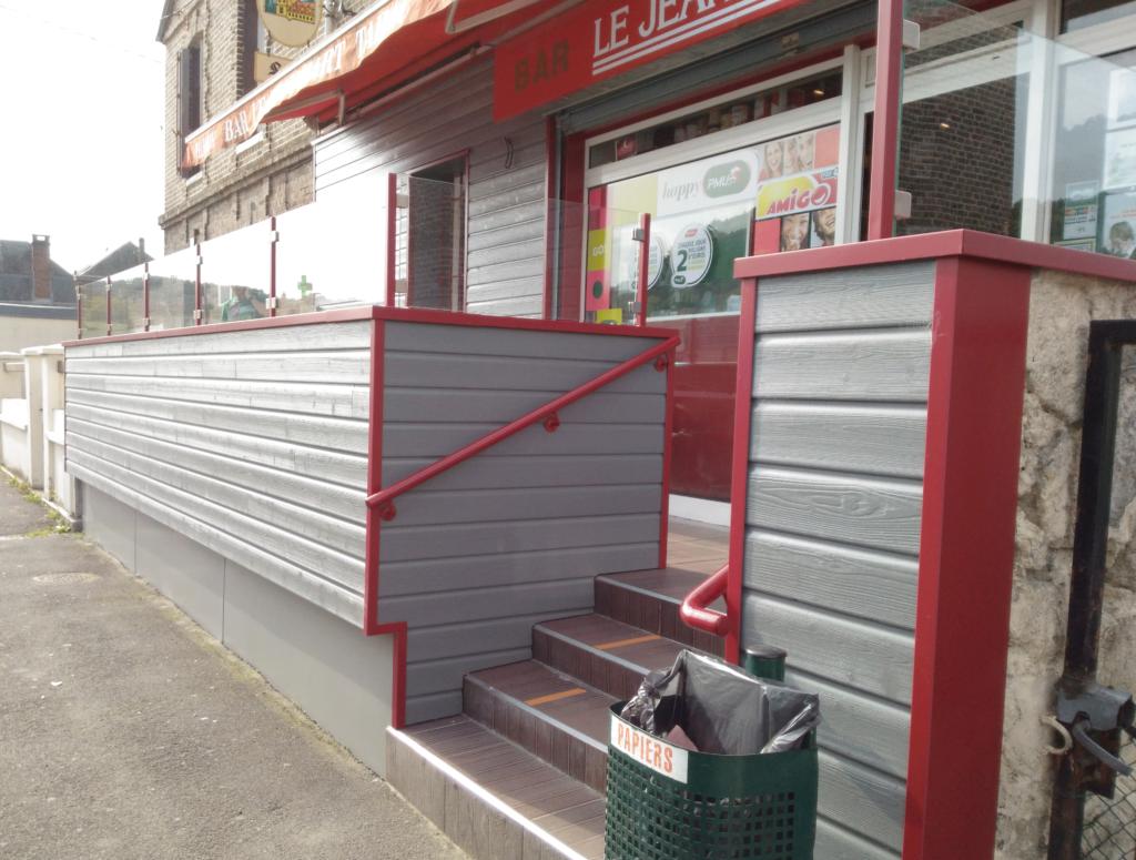 Aménagement de terrasse de bar - Seine-Maritime