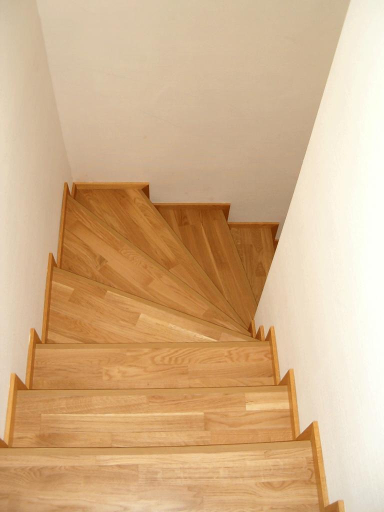 Habillage d'escalier en parquet - Eure