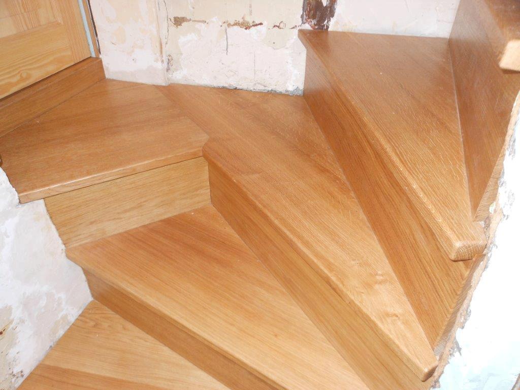 Habillage d'escalier en chêne - Sotteville lès Rouen
